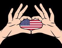 Bandera colorida del vector del día americano del patriota stock de ilustración