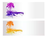 Bandera colorida del vector de la naturaleza Imagen de archivo libre de regalías