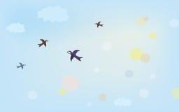 Bandera con aire en el cielo Fotografía de archivo libre de regalías