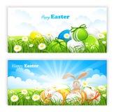 Banderas de Pascua ilustración del vector