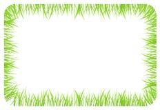 Bandera con las fronteras hechas de hierba verde Fotografía de archivo