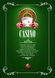 Bandera con las insignias del logotipo del casino Imágenes de archivo libres de regalías