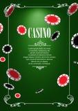 Bandera con las insignias del logotipo del casino Foto de archivo libre de regalías