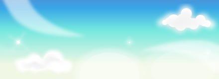Bandera con las nubes mullidas libre illustration