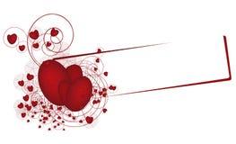 Bandera con los corazones libre illustration