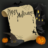 Bandera con los elementos de Halloween Imagen de archivo libre de regalías
