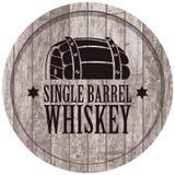 Bandera con un barril de whisky en estilo retro stock de ilustración