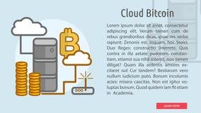 Bandera conceptual de Bitcoin de la nube Imagenes de archivo