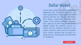Bandera conceptual de la cartera del dólar Foto de archivo