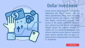 Bandera conceptual de la inversión del dólar Imagenes de archivo