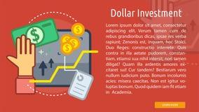 Bandera conceptual de la inversión del dólar Fotografía de archivo