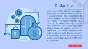 Bandera conceptual de la reserva del dólar Imágenes de archivo libres de regalías