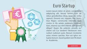 Bandera conceptual de lanzamiento euro Imágenes de archivo libres de regalías