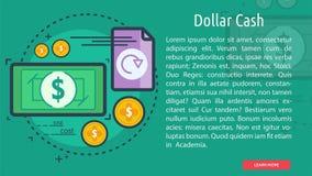 Bandera conceptual del efectivo del dólar Imagenes de archivo