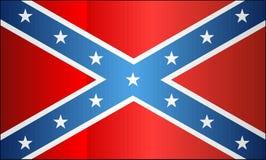 Bandera confederada del Grunge ilustración del vector