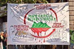 Bandera contra la manipulación de los medios de comunicación Imagen de archivo libre de regalías