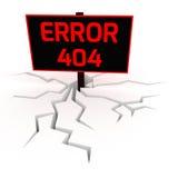 Bandera creativa 3D del error 404 Imágenes de archivo libres de regalías
