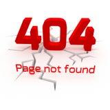 Bandera creativa 3D del error 404 Fotografía de archivo