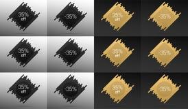 Bandera creativa de la venta con 35 apagado Descuento del precio Foto de archivo libre de regalías