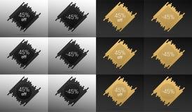 Bandera creativa de la venta con 45 apagado Descuento del precio Imagenes de archivo