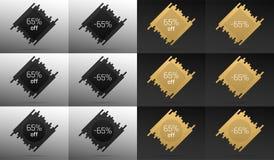 Bandera creativa de la venta con 65 apagado Descuento del precio Imágenes de archivo libres de regalías