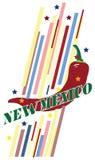 Bandera creativa de New México para el uso en diseño Fotos de archivo