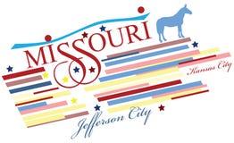 Bandera creativa para Missouri stock de ilustración