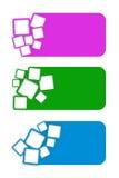 Bandera cuadrada 01 Imagenes de archivo