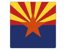 Bandera cuadrada del estado de los E.E.U.U. de Arizona ilustración del vector