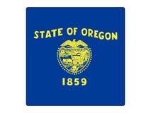 Bandera cuadrada del estado de los E.E.U.U. de Oregon ilustración del vector