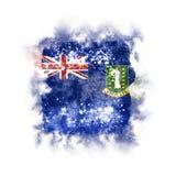 Bandera cuadrada del grunge de las Islas Vírgenes británicas Fotografía de archivo libre de regalías