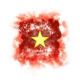 Bandera cuadrada del grunge de Vietnam Imagen de archivo