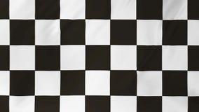 Bandera a cuadros de la animación que agita en el viento 2 en 1 metrajes