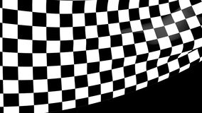 Bandera a cuadros de la raza del primer que agita con un canal alfa libre illustration