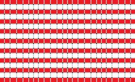 Bandera a cuadros roja y blanca del mantel Texturice para: manteles, ropa, camisas, vestidos, papel, lecho, mantas, edredones y ilustración del vector