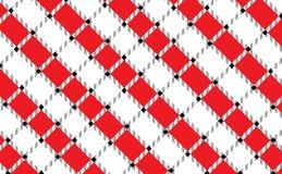 Bandera a cuadros roja y blanca del mantel Texturice para: manteles, ropa, camisas, vestidos, papel, lecho, mantas, edredones y stock de ilustración