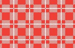 Bandera a cuadros roja y blanca del mantel Texturice para: tela escocesa, manteles, camisas, vestidos, papel, lecho, mantas, edre libre illustration