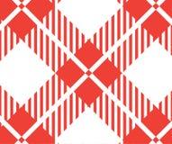 Bandera a cuadros roja y blanca del mantel Texturice para: tela escocesa, manteles, camisas, vestidos, papel, lecho, mantas, edre ilustración del vector