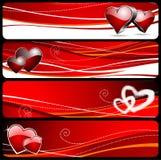 Bandera cuatro para el día de tarjeta del día de San Valentín