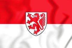 bandera 3D de Brunswick, de Alemania y de x28; Baje Saxony& x29; Imagen de archivo libre de regalías