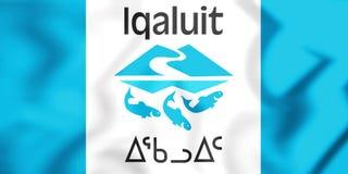 bandera 3D de Iqaluit, Canadá Fotografía de archivo