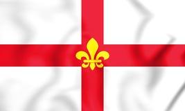 bandera 3D de Lincoln City Lincolnshire, Inglaterra stock de ilustración