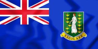bandera 3D de los British Virgin Islands Imagenes de archivo