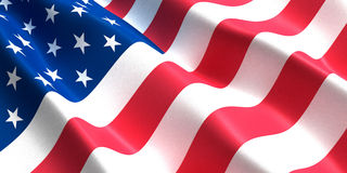 Bandera 3d de los E.E.U.U. Imagenes de archivo