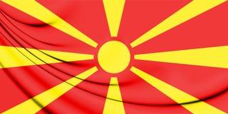 bandera 3D de Macedonia Foto de archivo