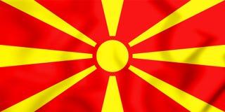 bandera 3D de Macedonia Imagen de archivo