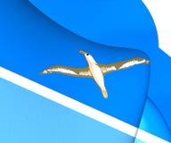 bandera 3D de Midway Islands Fotografía de archivo libre de regalías
