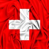 bandera 3d de Suiza que agita en el viento libre illustration