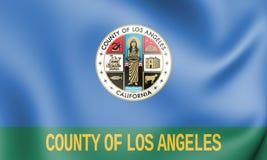 bandera 3D del condado de Los Angeles California, los E.E.U.U. libre illustration