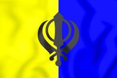 bandera 3D del Khalistan Fotografía de archivo libre de regalías